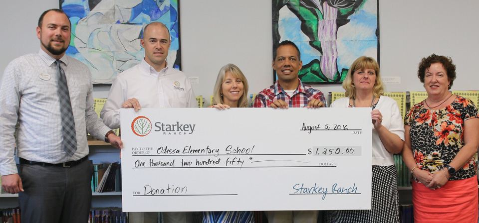 Starkey Ranch contributes to Odessa Elementary