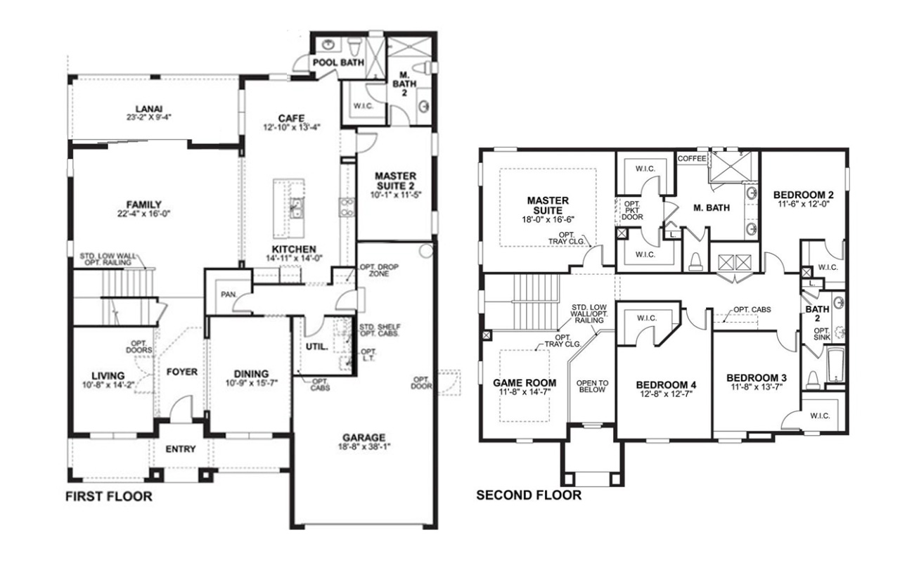M/I Homes Regency LE Model Floor Plan