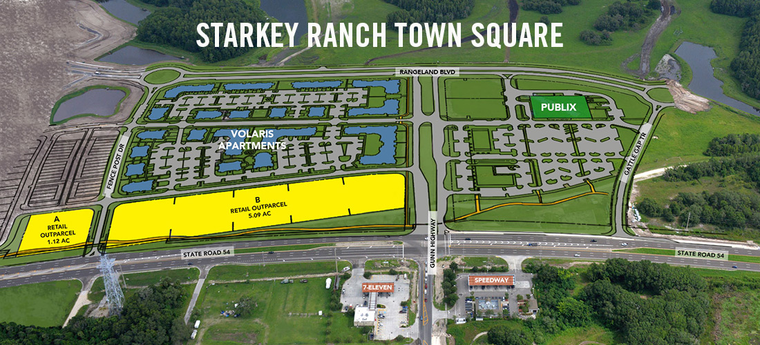 Starkey Ranch Town Square Map